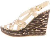 Miu Miu Wooden Wedge Sandals