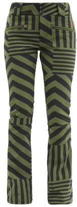 Perfect Moment Star Dazzle Striped Soft-shell Ski Trousers - Black Green