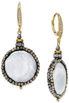 Paul & Pitü Naturally Gold-Tone Cultured Freshwater Pearl Disc Drop Earrings