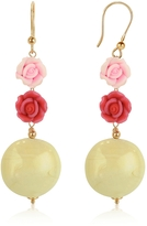 Murano House of Rose Glass Drop Earrings