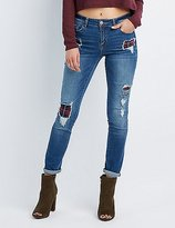 Charlotte Russe Refuge Patchwork Boyfriend Destroyed Jeans