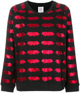 Zoe Karssen laminated bat print jumper