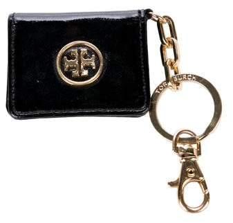 Tory Burch Patent Leather Logo Keychain