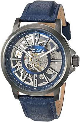 Kenneth Cole New York Men's Automatic Stainless Steel Japanese-Quartz Watch with Leather Strap