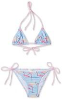 Stella Cove Girl's Flamingo Print Two-Piece Swimsuit
