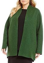 Eileen Fisher Plus High Collar Jacket