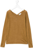 Hartford Kids - lightweight knitted jumper - kids - Linen/Flax - 10 yrs