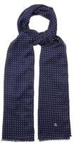 Dunhill Polka-dot Wool-blend Scarf
