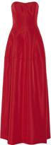 J. Mendel Pleated silk-faille gown