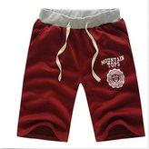 Wispun Men's Beach Casual Shorts Jogger Sports Harem Dance Loose Shorts (M, )