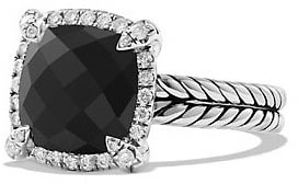 David Yurman Chatelaine Pave Bezel Ring with Gemstone & Diamonds/9mm