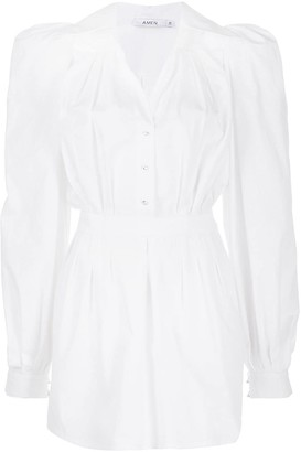 Amen Puff Sleeve Shirt Dress