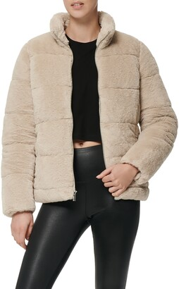 Andrew Marc Faux Fur Puffer Jacket