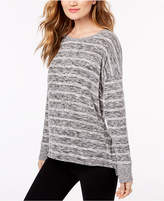 INC International Concepts I.n.c. Striped Knit Top, Created for Macy's