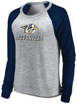 Majestic Women's Nashville Predators Cozy Crew Long Sleeve T-Shirt