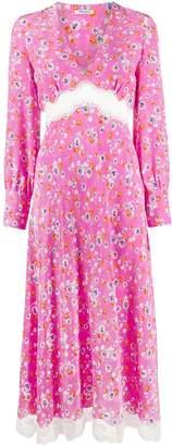 Miu Miu floral print empire line dress