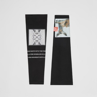 Burberry Montage Print Stretch Jersey Sleeves
