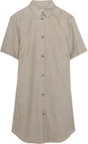 MM6 MAISON MARGIELA Wool-blend Gabardine Mini Dress - Gray