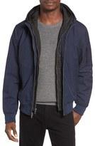 Black Rivet Men's Hooded Jacket