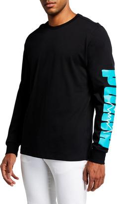Puma Men's Parquet T-Shirt with Graphic Arms