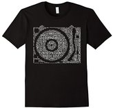 Turntable Shirt: Record Collection Turntables DJ Words Gift