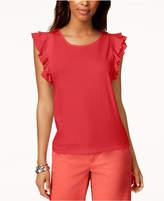 Tommy Hilfiger Ruffled-Sleeve T-Shirt