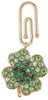 Aurelie Bidermann Fine Jewelry 18kt Gold Clover Pendant with Tsavorites