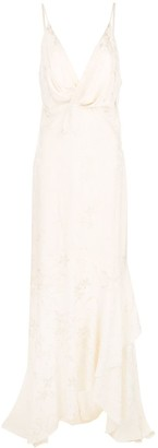 Johanna Ortiz draped-style long dress