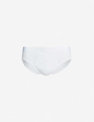 Calvin Klein Logo-detail classic-fit stretch-cotton briefs