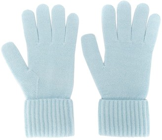 N.Peal Ribbed Cashmere Gloves