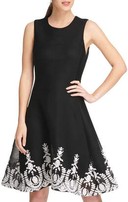 DKNY Sleeveless Fit & Flare Dress