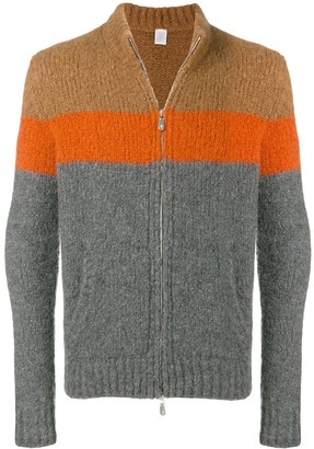 Eleventy Colour Block Cardigan