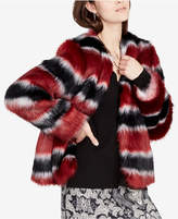 Rachel Roy Striped Faux-Fur Jacket, Created for Macy's