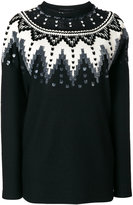 Ermanno Scervino lace trim sweater - women - Silk/Polyamide/Polyester/Wool - 42