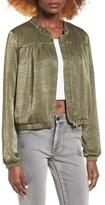 Leith Women's Satin Bomber Jacket