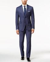 Perry Ellis Portfolio Men's Slim-Fit Blue Shadow Striped Suit