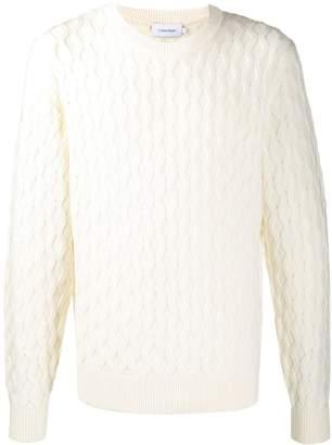 Calvin Klein honeycomb knit jumper