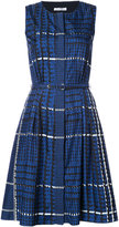 Oscar de la Renta pleated dress with pockets