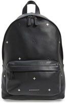 Givenchy Metal Cross Embellished Calfskin Leather Backpack - Black