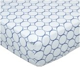 Swaddle Designs Fitted Crib Sheet - Pastel with Mod Circles-Turquoise