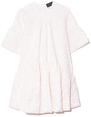 Simone Rocha Short Gathered Dress in Ivory