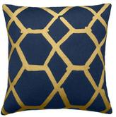 Judy Ross Textiles Jalli Navy/Gold Rayon Pillow