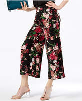 INC International Concepts Printed Cropped Wide-Leg Pants, Created for Macy's