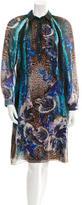 Alberta Ferretti Printed Silk Dress