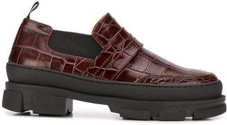 Ganni lug-soled loafers