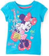 Children's Apparel Network Minnie Mouse 'Paris' Cap-Sleeve Top - Toddler
