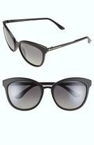 Tom Ford Women's 'Emma' 56Mm Sunglasses - Matte Black/ Smoke Polarized