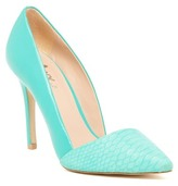 Mixx Shuz Aria Snake Embossed Pointed Toe Pump