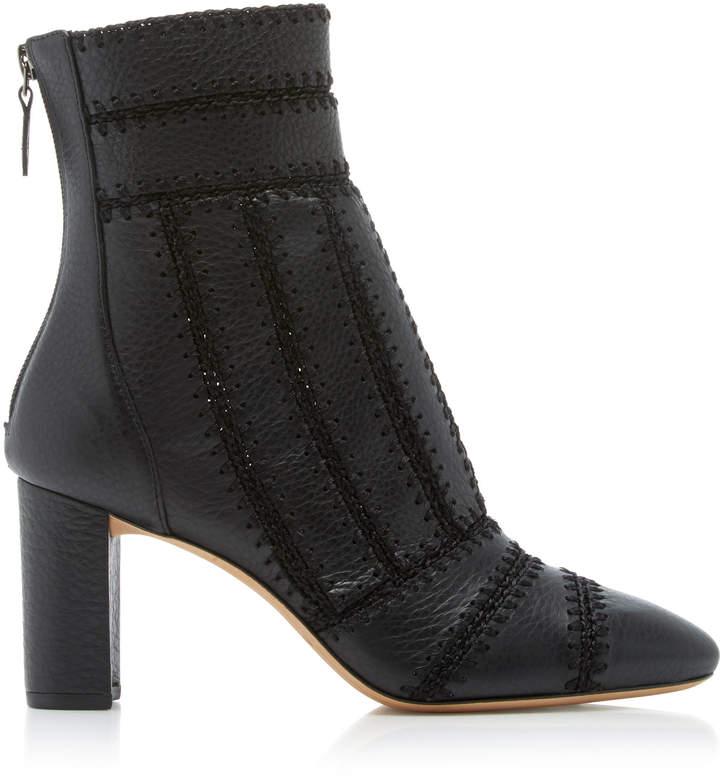 Alexandre Birman Beatrice Crocheted Leather Boot