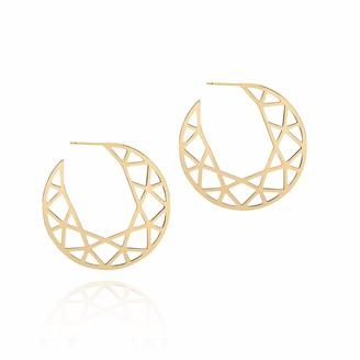 Myia Bonner Gold Brilliant Diamond Hoop Earrings